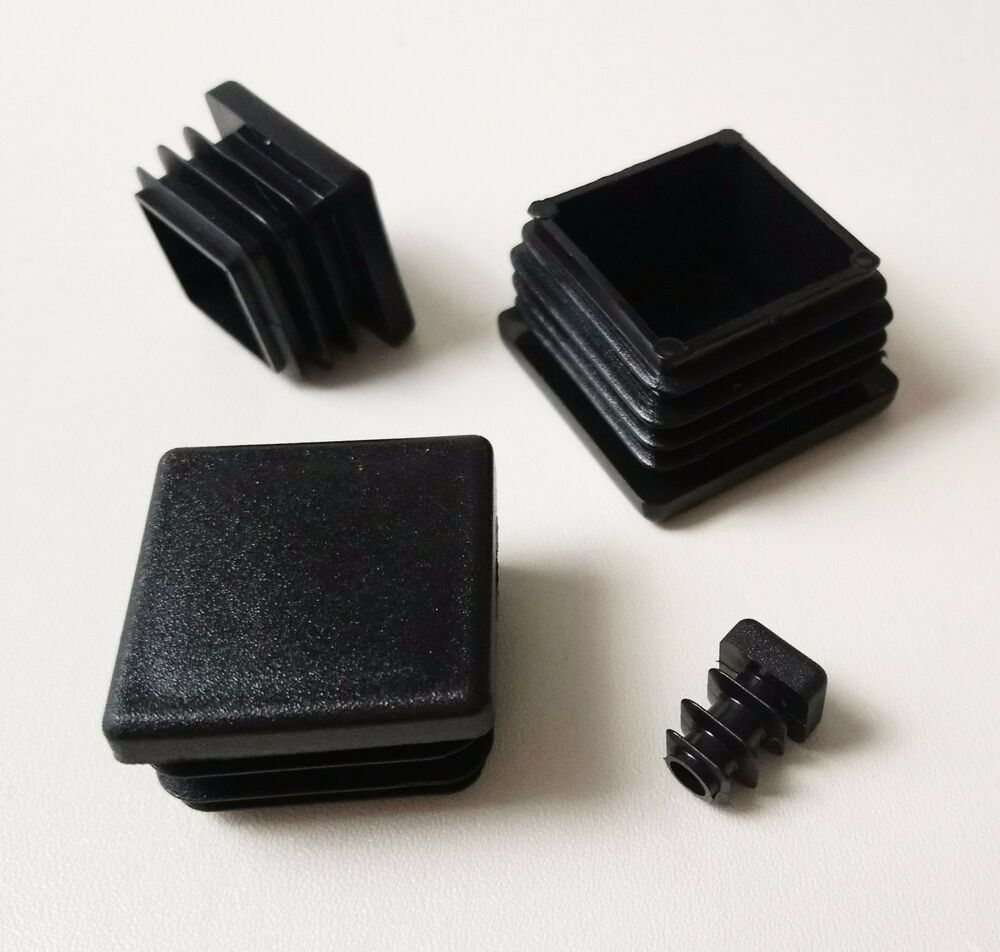 Square Plastic End Caps Blanking Plugs Box Section Tube