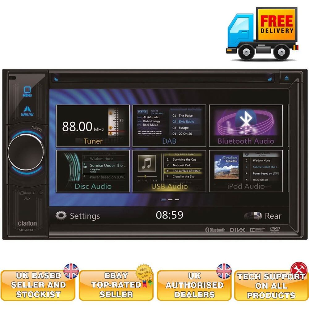Stocking Filler Clarion Nx404 Double Din Car Stereo With Built In Radio Wiring Amp Pre Sat Nav Ebay