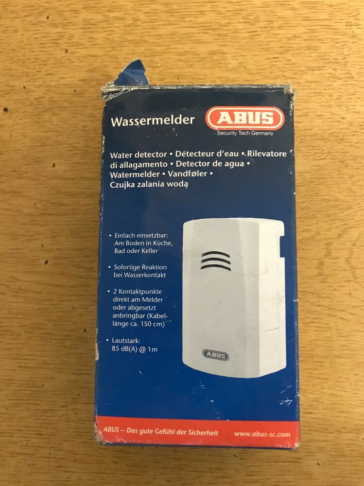 Abus Water Detector Loud And Effective Battery Powered And