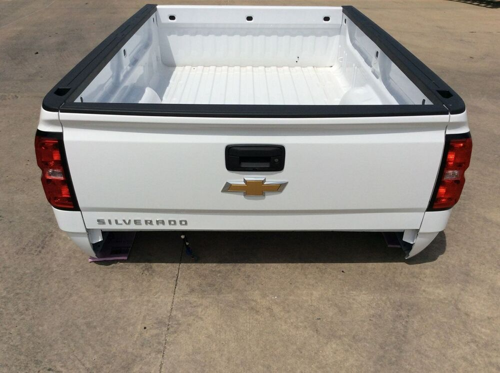 2007 2017 chevy silverado 8ft truck bed new takeoff with tailgate ebay. Black Bedroom Furniture Sets. Home Design Ideas