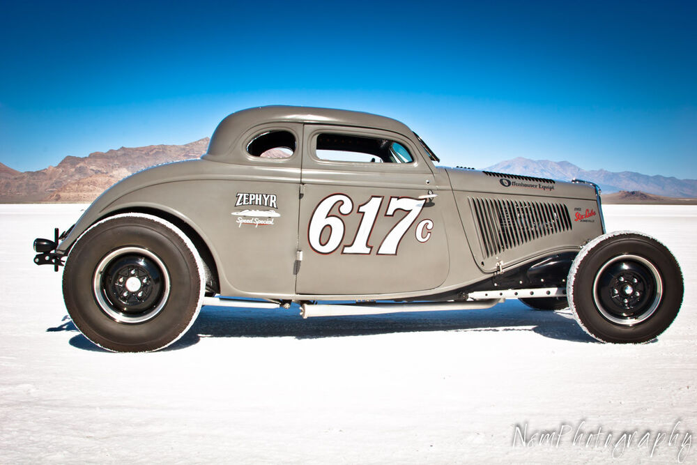 12x18 in poster vintage 1934 ford 5 window coupe for Garage ford bonneville