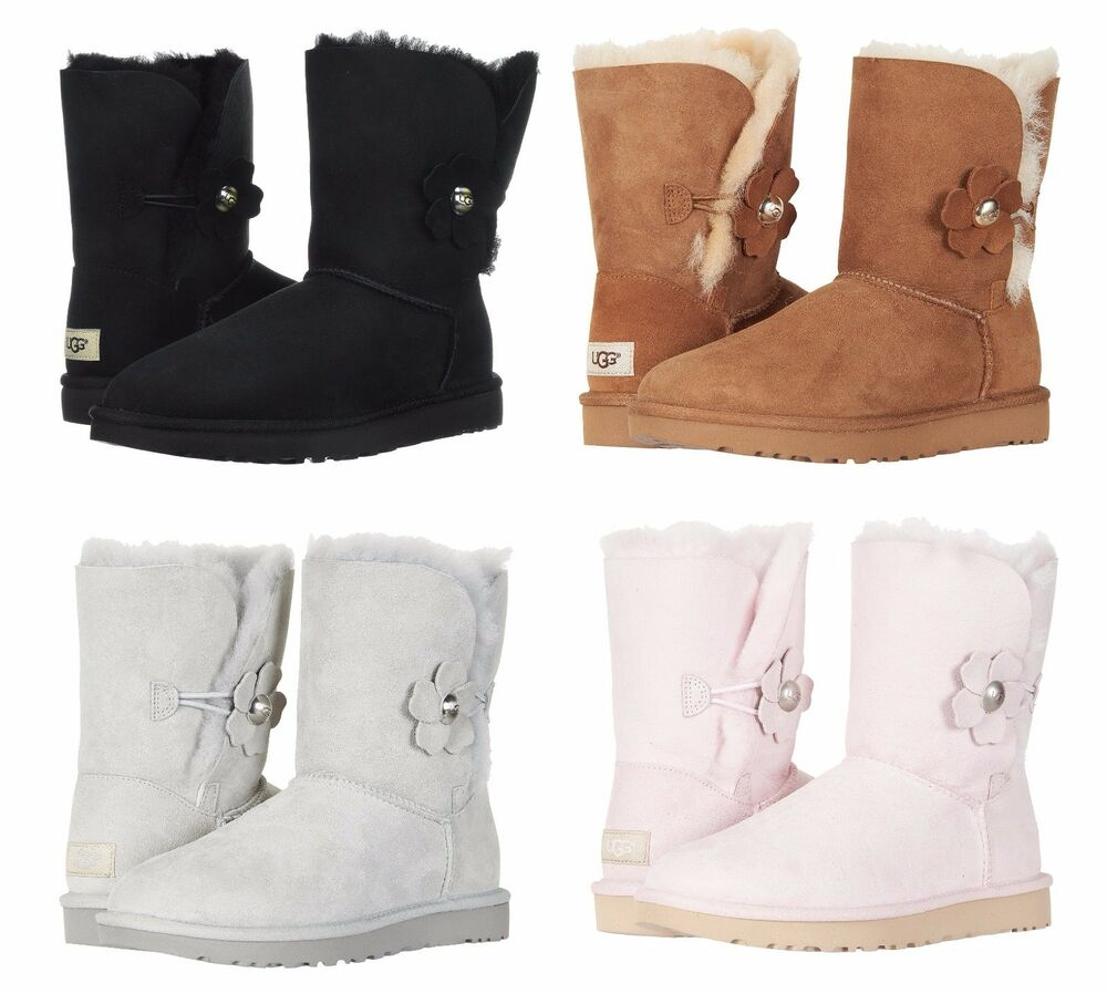 200f466bbb20 Details about Authentic UGG Women s Bailey Button Flower Poppy Boots Shoes  Many Colors