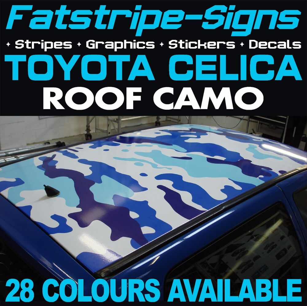 Toyota Celica Camo Roof Graphics Stickers Stripes Decals Vvti Gt 1973 For Sale Sport Trd 18 Ebay