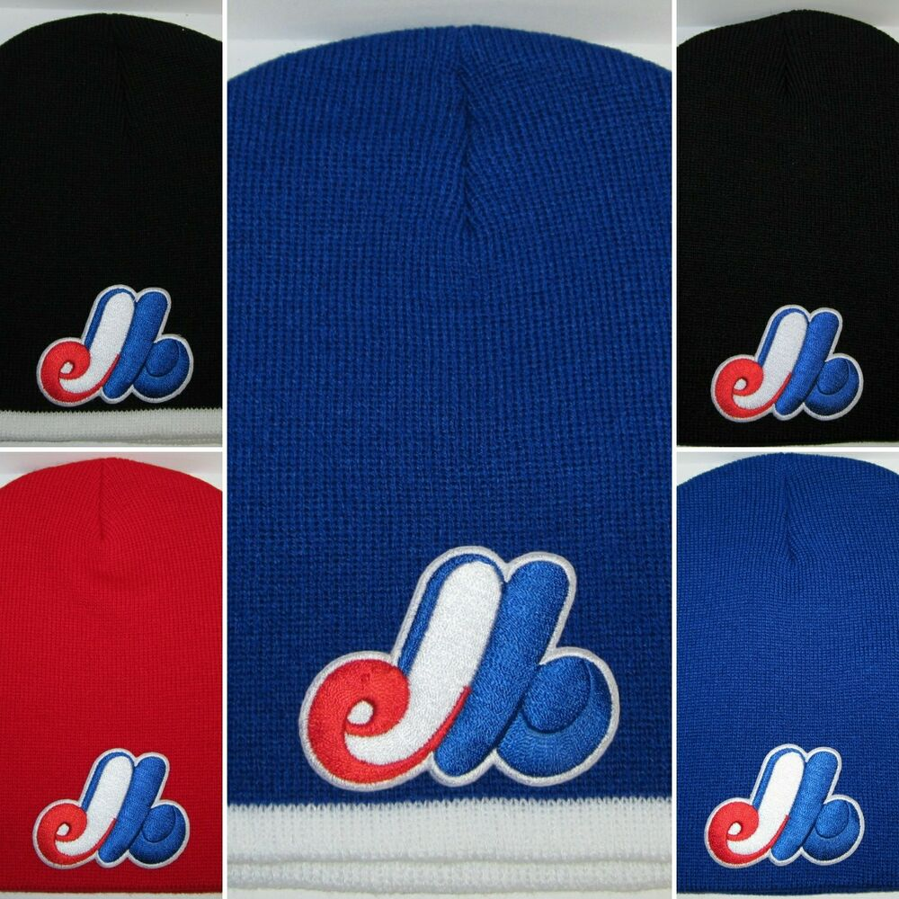 00933a193f6f0 Details about Montreal Expos Beanie ~SKULL CAP ~HAT ~VINTAGE MLB PATCH LOGO  ~5 Cool Colors~NEW