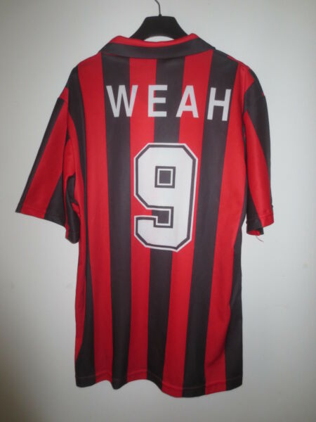 Maillot A.C MILAN  vintage WEAH n°9 home shirt maglia calcio collection XL