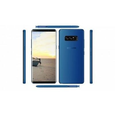 "New Imported Samsung Galaxy Note 8 Duos 128gb 6gb 6.3"" Dual Cam 12mp & 8mp Blue"