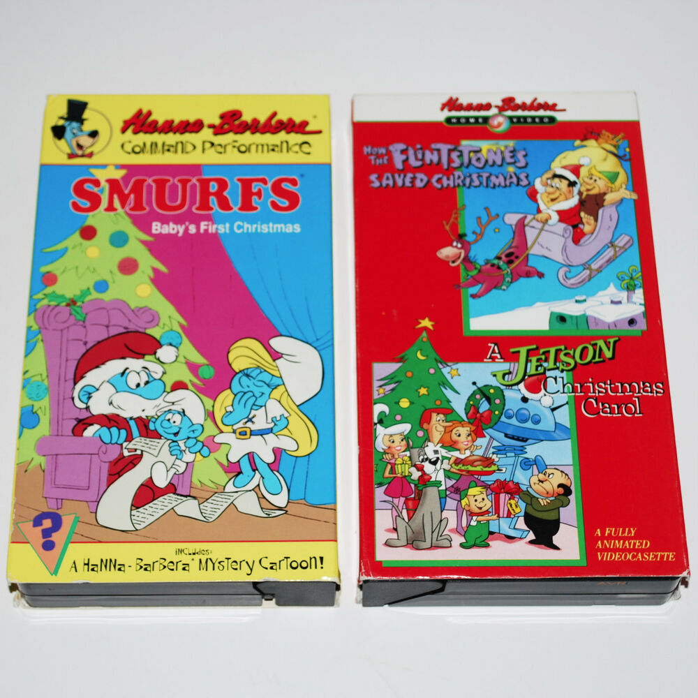 Hanna Barbera 2X VHS Lot How The Flinstones Saved Christmas + ...