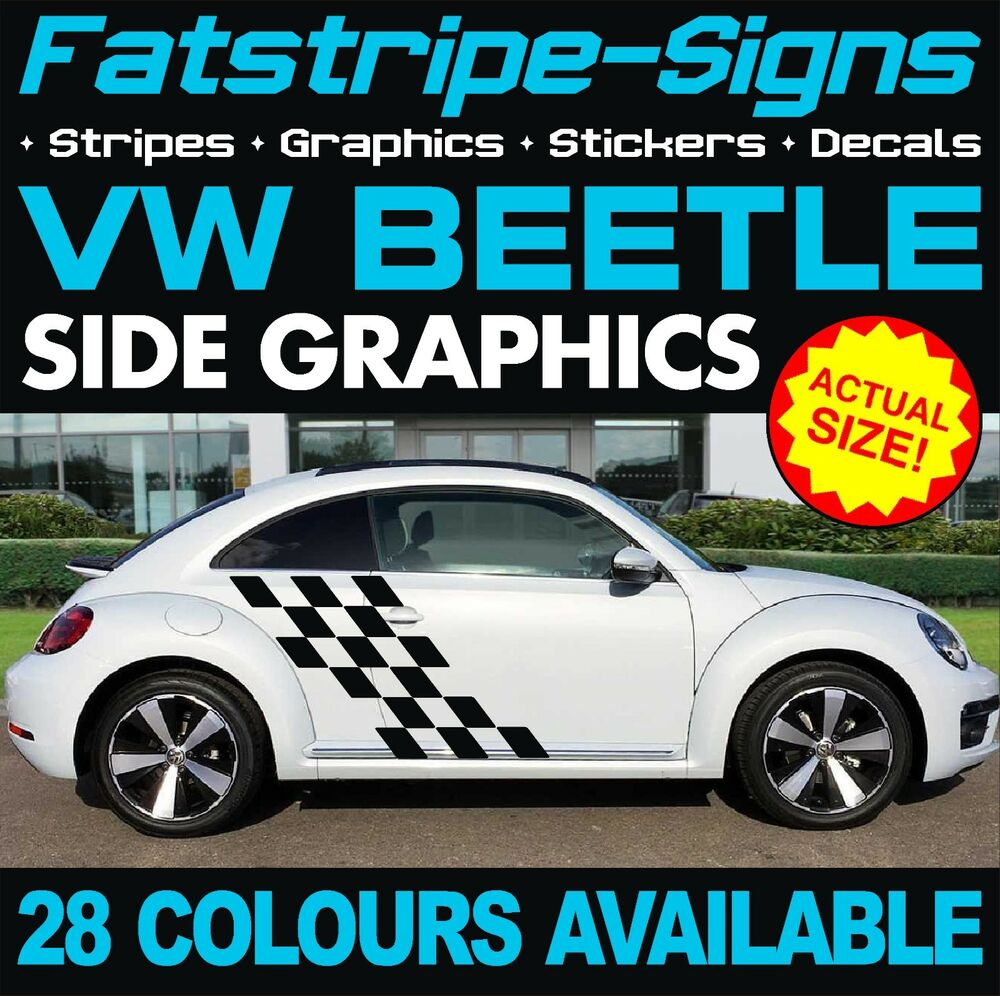 Details about vw beetle graphics stickers stripes decals volkswagen v dub r line 1 6 1 8 turbo