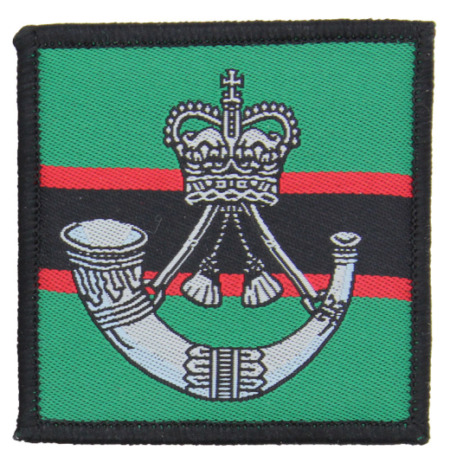 img-THE RIFLES HOOK & LOOP BACKED CLOTH CAP BADGE TRF PATCH IDEAL FOR DAY SACK