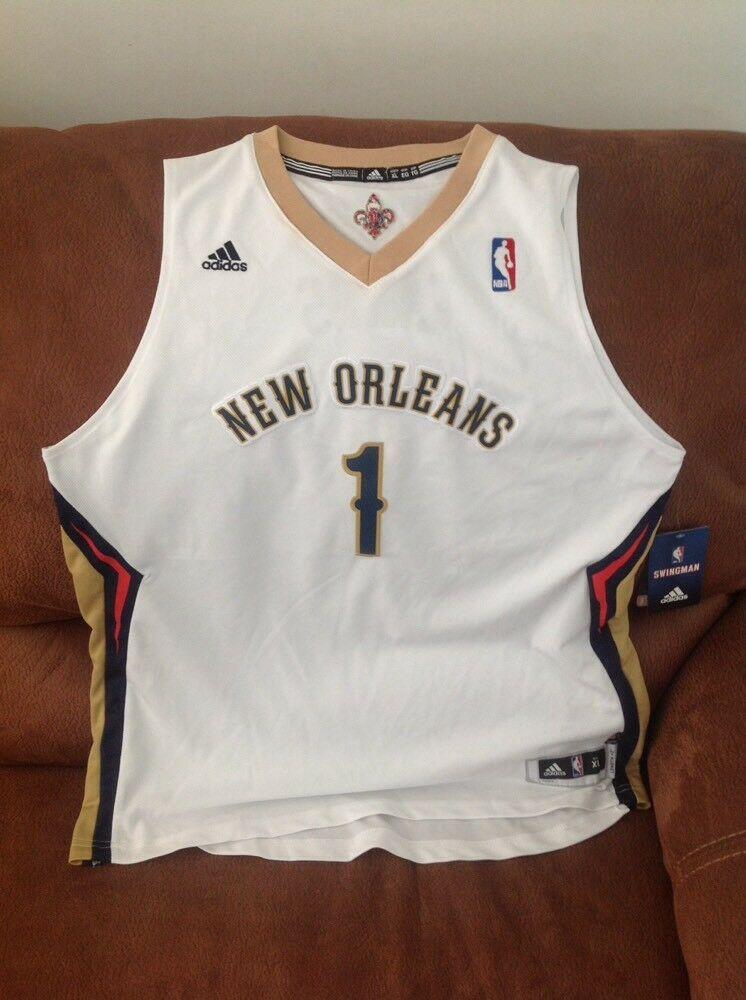 5ddf3f37 adidas new orleans pelicans tyreke evans #1 nba jersey NWT size XL Lenght2  youth | eBay