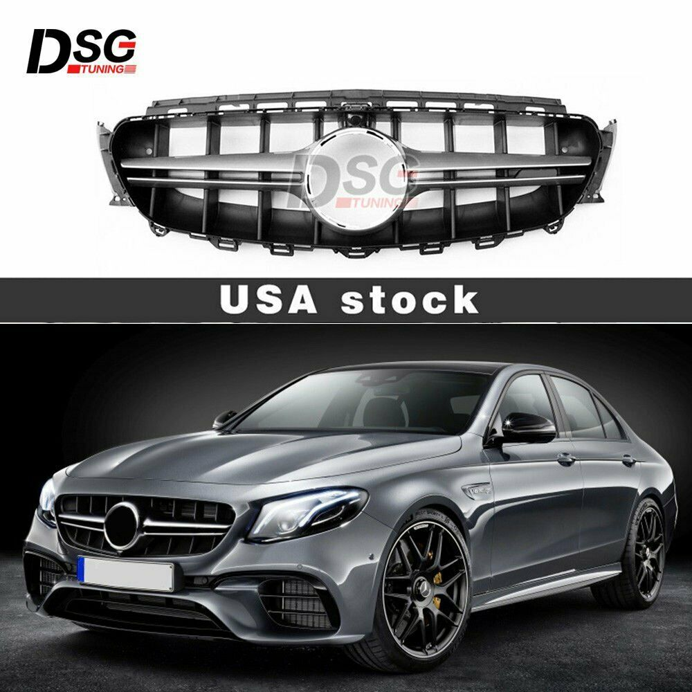 fit camera e63 amg look front grill for mercedes w213 e. Black Bedroom Furniture Sets. Home Design Ideas