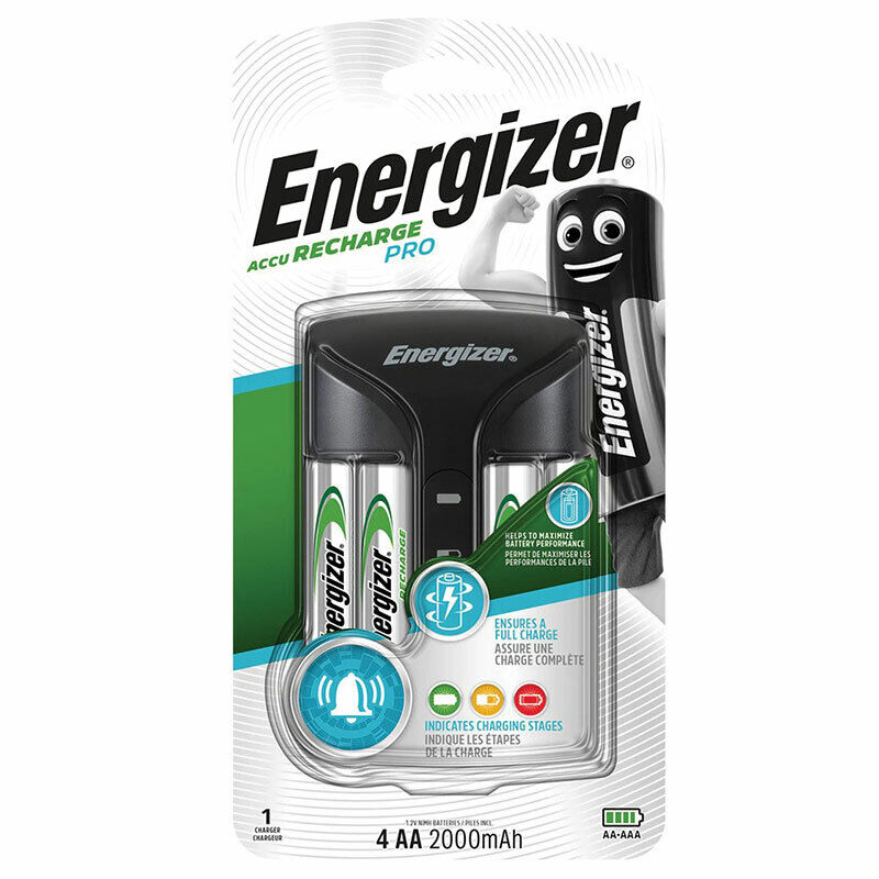 energizer pro charger for aaa aa nimh 4 aa 2000 mah rechargeable batteries ebay. Black Bedroom Furniture Sets. Home Design Ideas