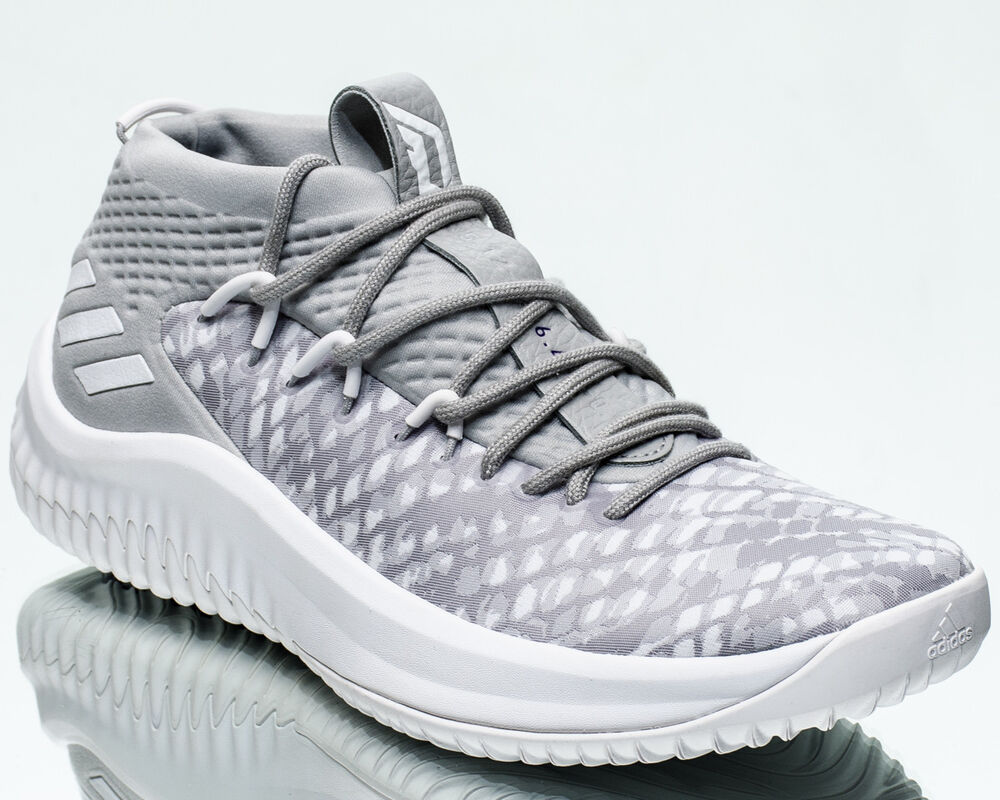 new concept a6c78 e95d1 Details about adidas Dame Lillard 4 Start to Finish men shoes new footwear  white grey BY4495