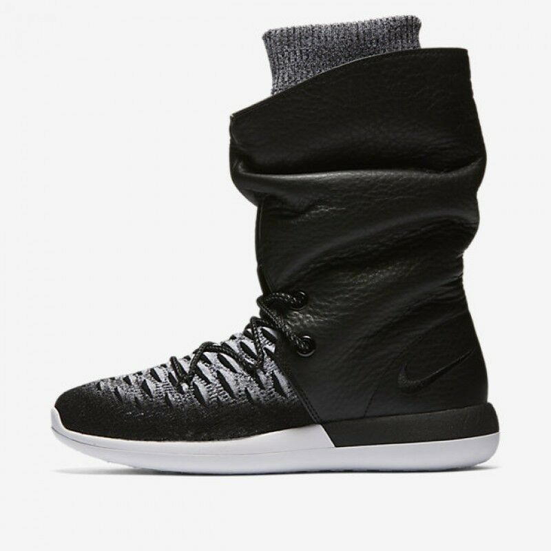 reputable site 66145 19261 Details about NEW WOMENS NIKE ROSHE TWO HI FLYKNIT BOOTS 861708 002 MULTIPLE  SIZES