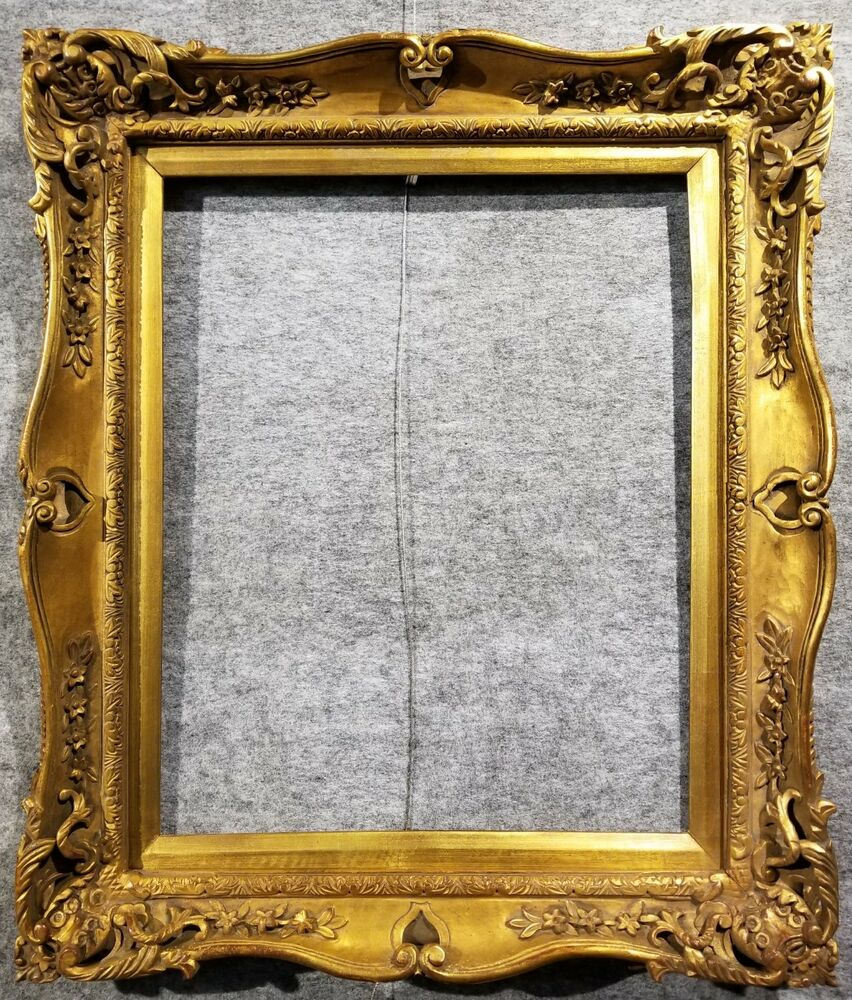 4 gold vintage antique fine hand carved picture frame frames4art 4 gold vintage antique fine hand carved picture frame frames4art 1406g 16x20 ebay jeuxipadfo Gallery