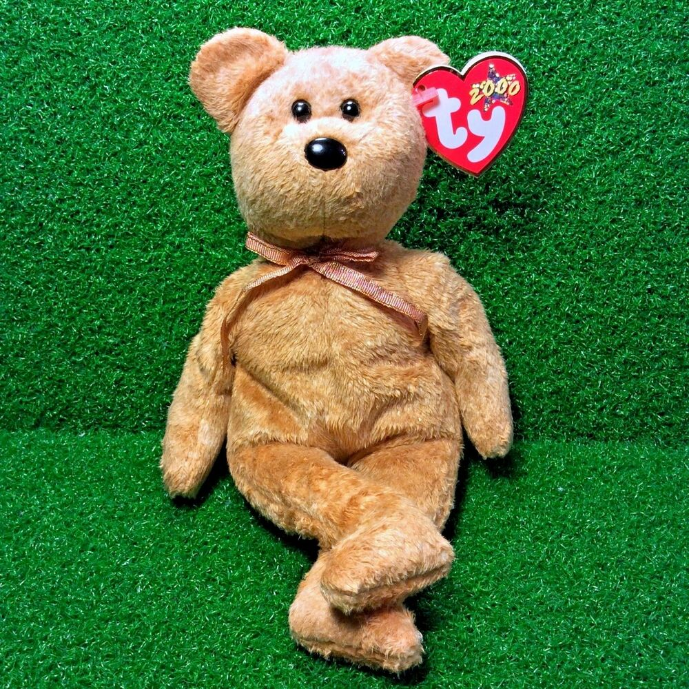 1401a3cc8e1 Details about Ty Beanie Baby Cashew The Teddy Bear 2000 Retired Plush Toy  MWMT - Free Shipping