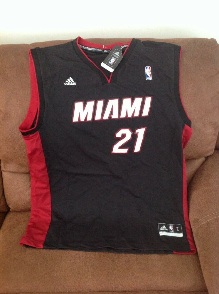 4ee76f8bf Adidas Miami heat hassan whiteside nba jersey NWT size L mens