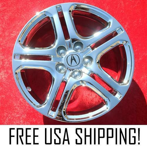"Set Of 4 Chrome 18"" Acura RL A-Spec OEM Factory Wheels"