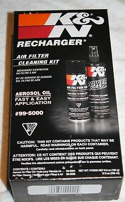 K&N Recharger Air Filter Cleaning Kit W/ Oil & Cleaner 99-5000 Free Ship New