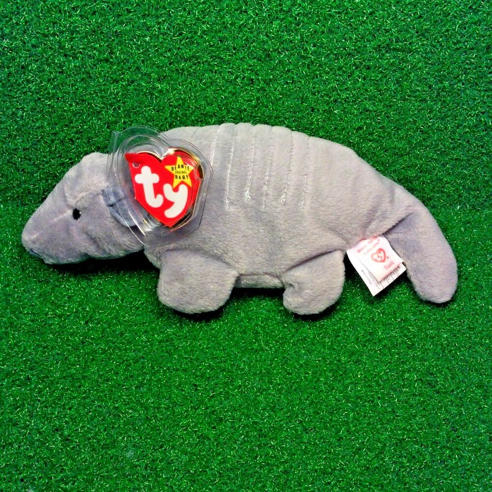 f6970e2956f Details about RARE Ty Beanie Baby TANK Armadillo 7-Line No Shell   3rd Gen  Canadian Tush MWMT