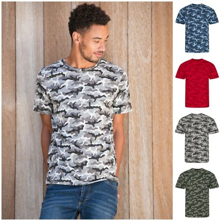 img-Mens Army Camouflage Camo T-Shirt Short Sleeve Top Tshirt Cotton Tee S - 2XL Men