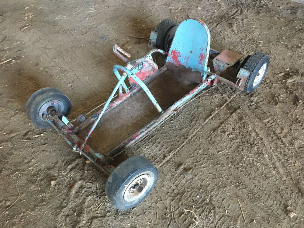 Vintage Twin Engined Go Kart Frame - Bird Engineering HAWK Go Kart ...