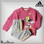 Adidas Disney Minnie Mouse Outfit Baby Girls 3-6-9-12-18-14 Months 2-3-4 Years