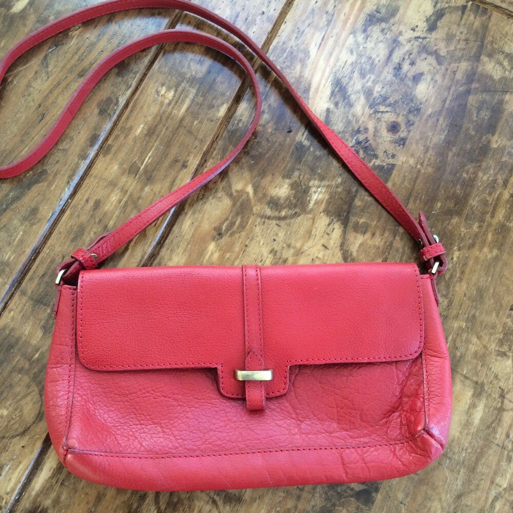2c201554fa Details about womens handbags and purses/Zara Red Leather Shoulder Bag