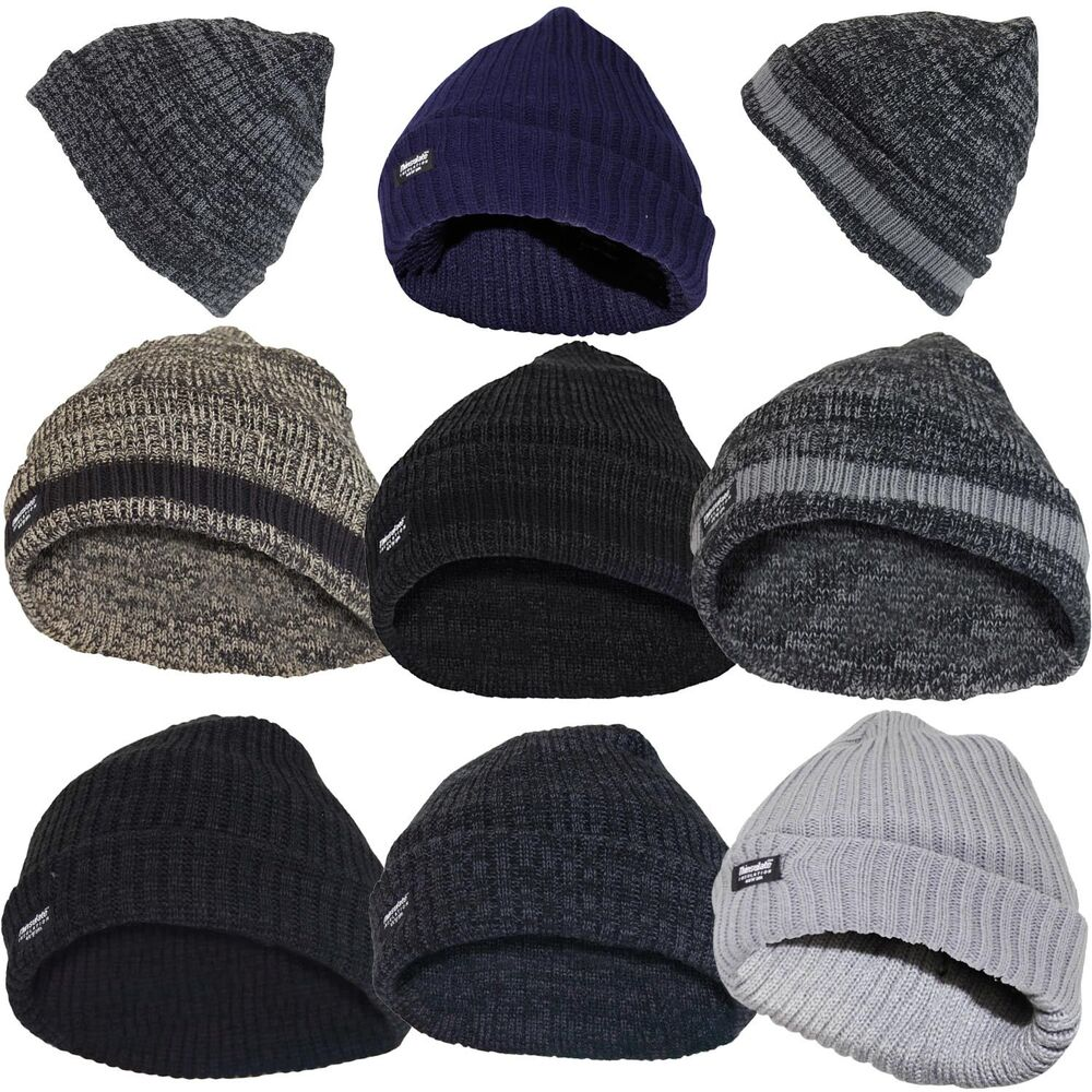 Details about Thin Isulated Mens Knitted Woolly Chunky Thermal Beanie  Outdoor Winter Ski Hat 127d4fae553
