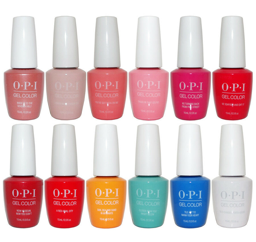 Nail Polish Colors Spring 2018 Opi: OPI Lisbon Collection Spring 2018 GelColor Soak-Off Gel