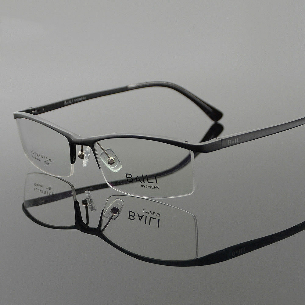 1a228ae1b5 Details about New Women Men Metal Glasses Eyeglasses Frames Half Rimless  Eyewear Spectacles RX