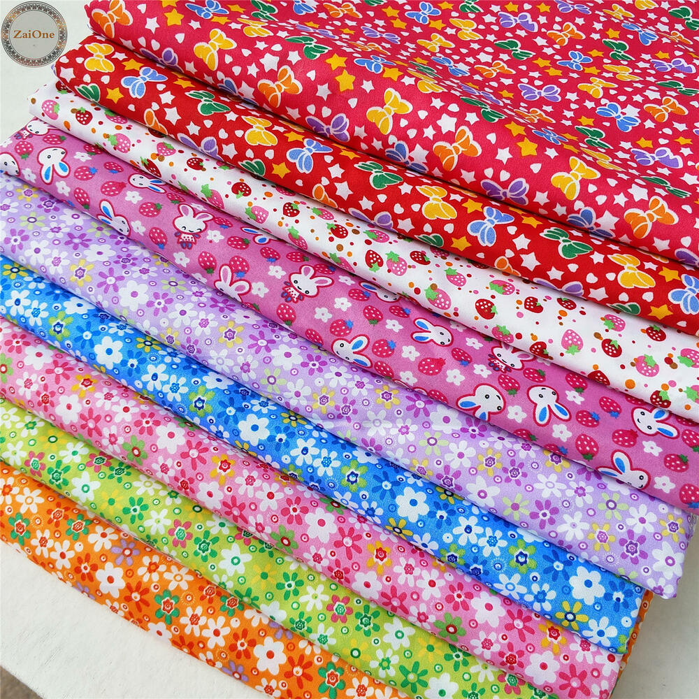Floral Printed Fabric Vintage Prints Quilting Cotton Like
