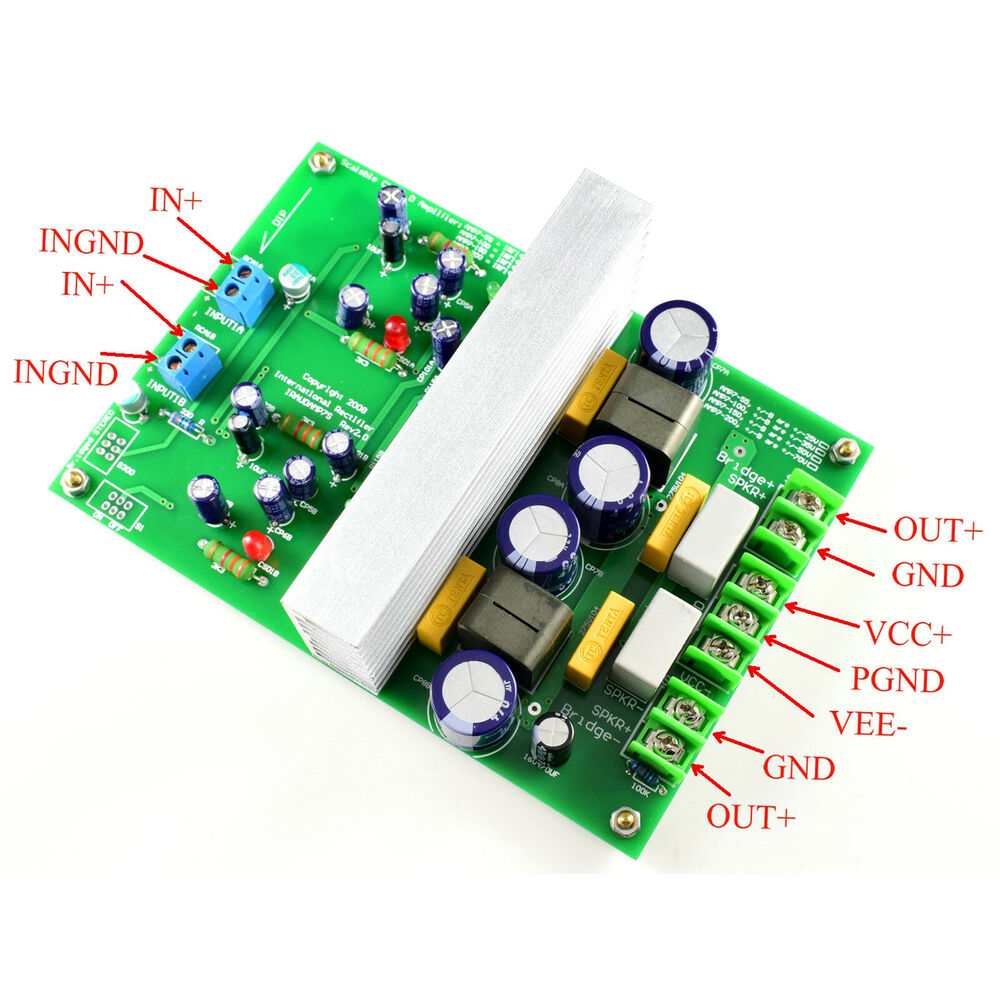 L15dx2 Irs2092 Class D Amplifier Finished Board Two Channel Circuit Power Audio Stereo With Tda7293 200 Watts Rms Iraudamp7s 125 500w 8751762604969 Ebay