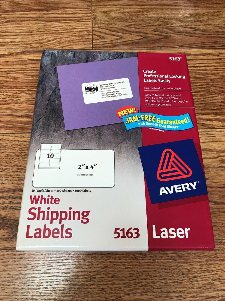 Details about Avery 5163 White Shipping Labels Laser Printer 2