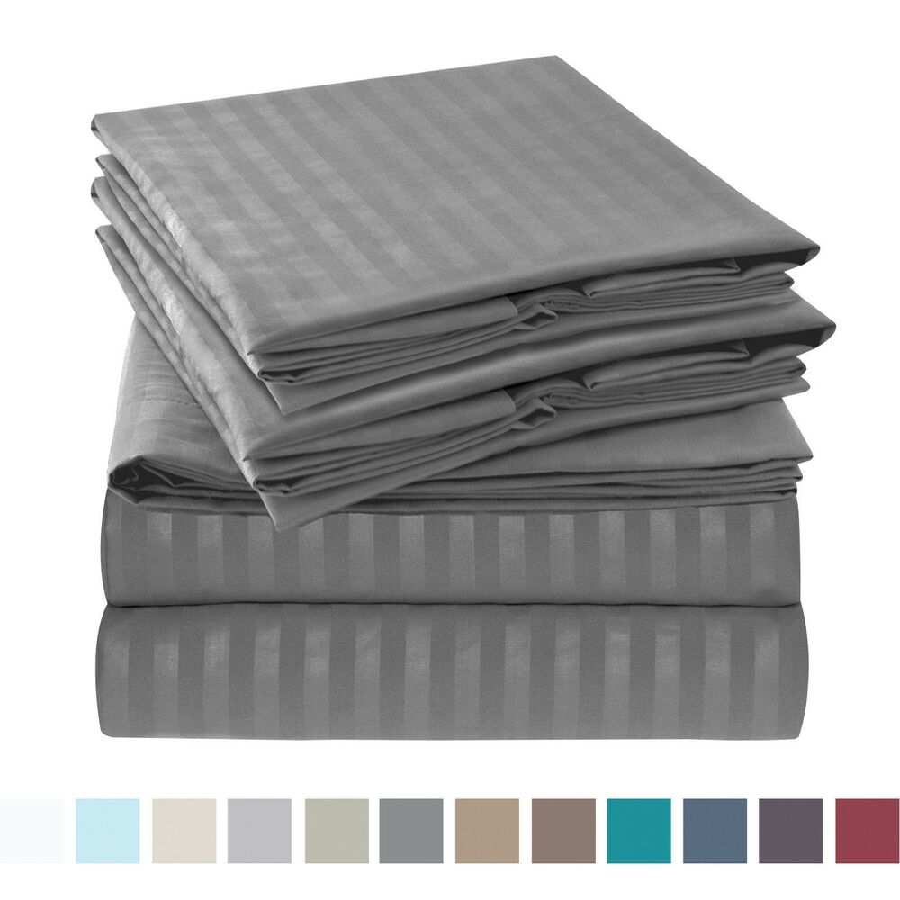 Details About Jennifer 1800 Series 6 Piece Bed Sheet Set High Quality Hotel Edition