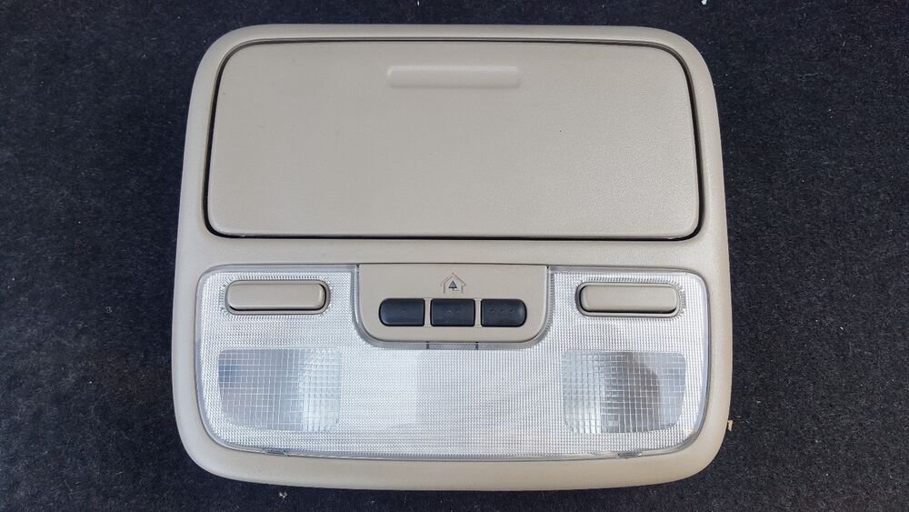 Details About 99 06 Honda Tl Accord Overhead Console Map Light Dome Sungles Tan Beige