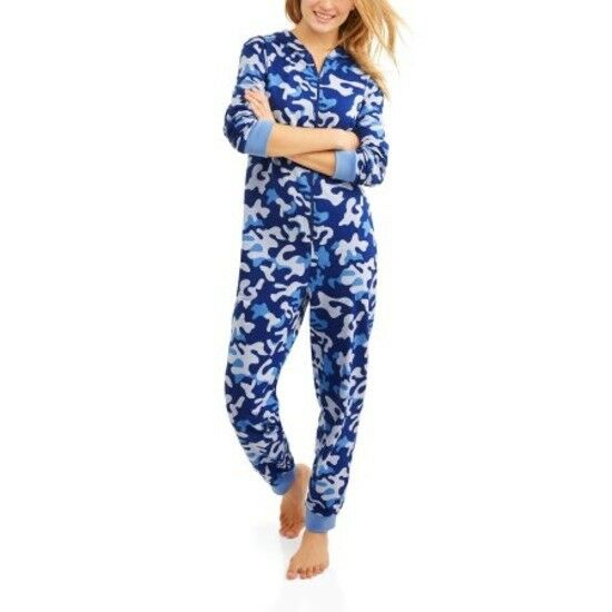 993e2370fa Details about Body Candy Women s S Pajama Knit Union Suit One Piece Sleepwear  With Hood New