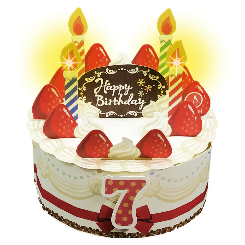 Details About Happy Birthday Cake With Candles Lights And Melody Pop Up Greeting Card