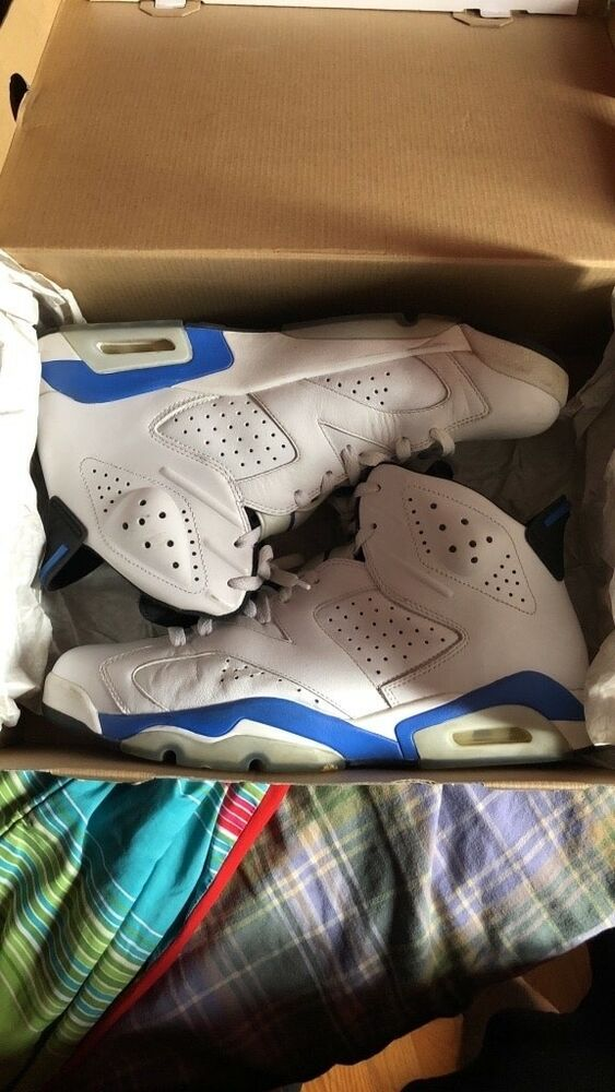 separation shoes 6c528 11b11 mens retro air jordan sport blue 6s size 12 | eBay