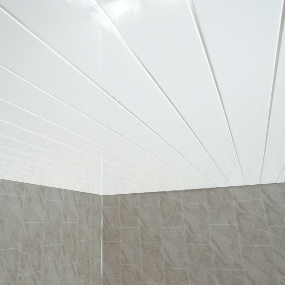 Gloss White Chrome Strip Bathroom Wall Cladding White ...