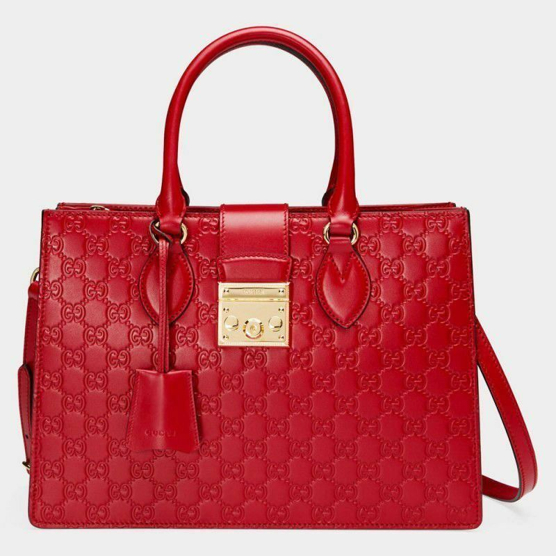 Details about Gucci Borsa Padlock Gucci Signature Top Handle Leather Bag 3426a5f243757