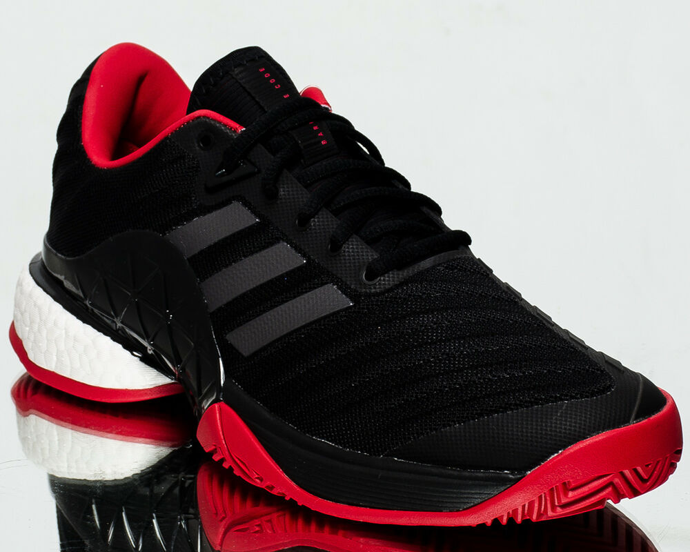 online store 4904f a1e79 Details about adidas Barricade 2018 Boost men tennis shoes sneakers NEW  black scarlet CM7829