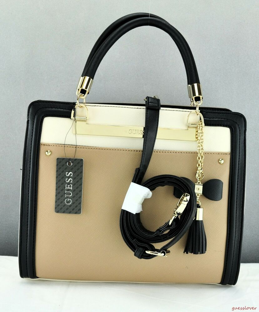 Details about New Stylish Gift Ideas Handbag GUESS Satchel Tote Annalisa  Ladies Taupe Bag 022c3f0ba111c