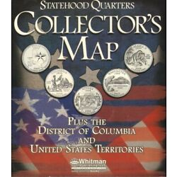 Kyпить US State Quarter Collection Coin Map Display 50 States DC + Territories Colorful на еВаy.соm