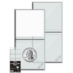 Kyпить 2x2 Coin Flips Holders 100 Double Pocket Pouches With White Inserts By BCW New на еВаy.соm