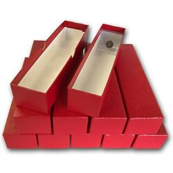 Kyпить Lot Of 10 2x2 Coin Flips Red Boxes 9 Inch For Snaplock Top Quality Storage 1 Row на еВаy.соm