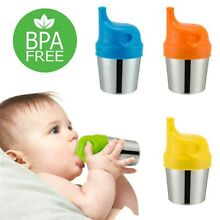 US Silicone Sippy Cup Lids Kids Toddler Spill Proof Trainer Bottle Glass Sip Lid