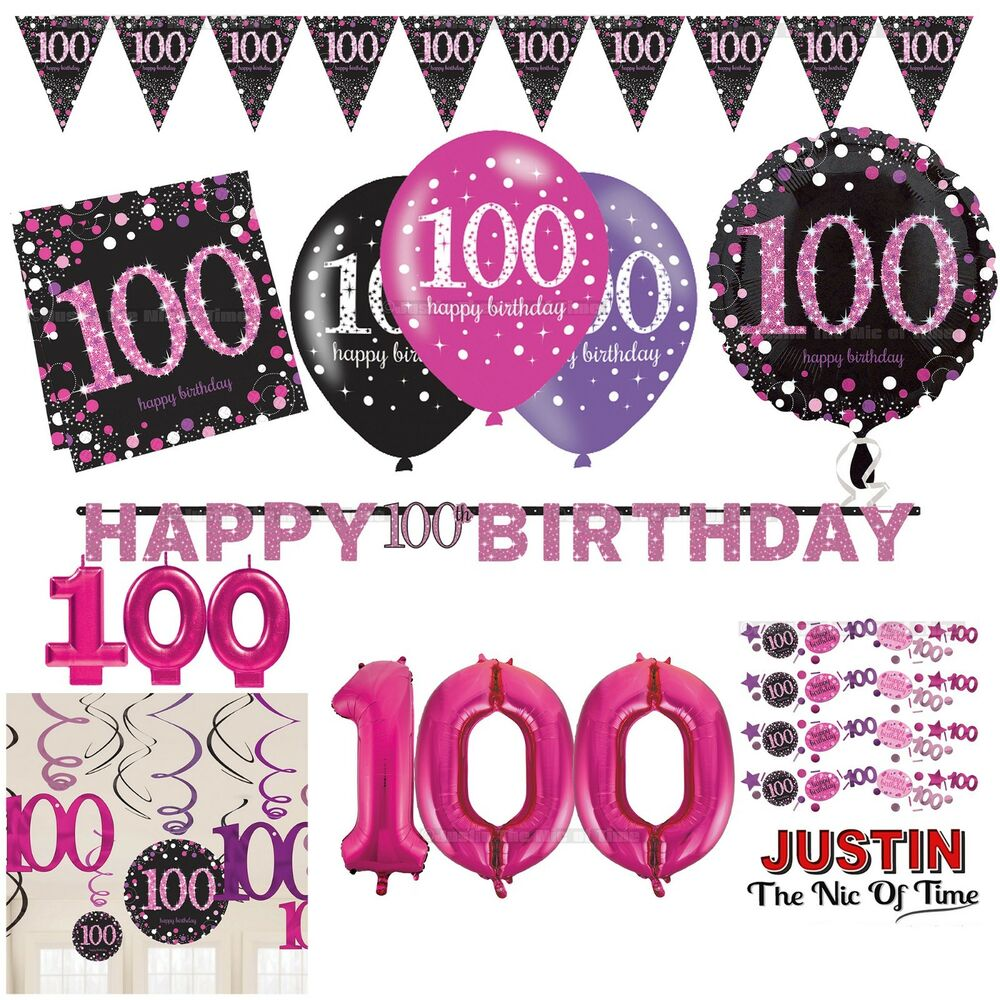 Confetti 100 Unisex 100th Birthday Party Age Glitz Black Table Decorations