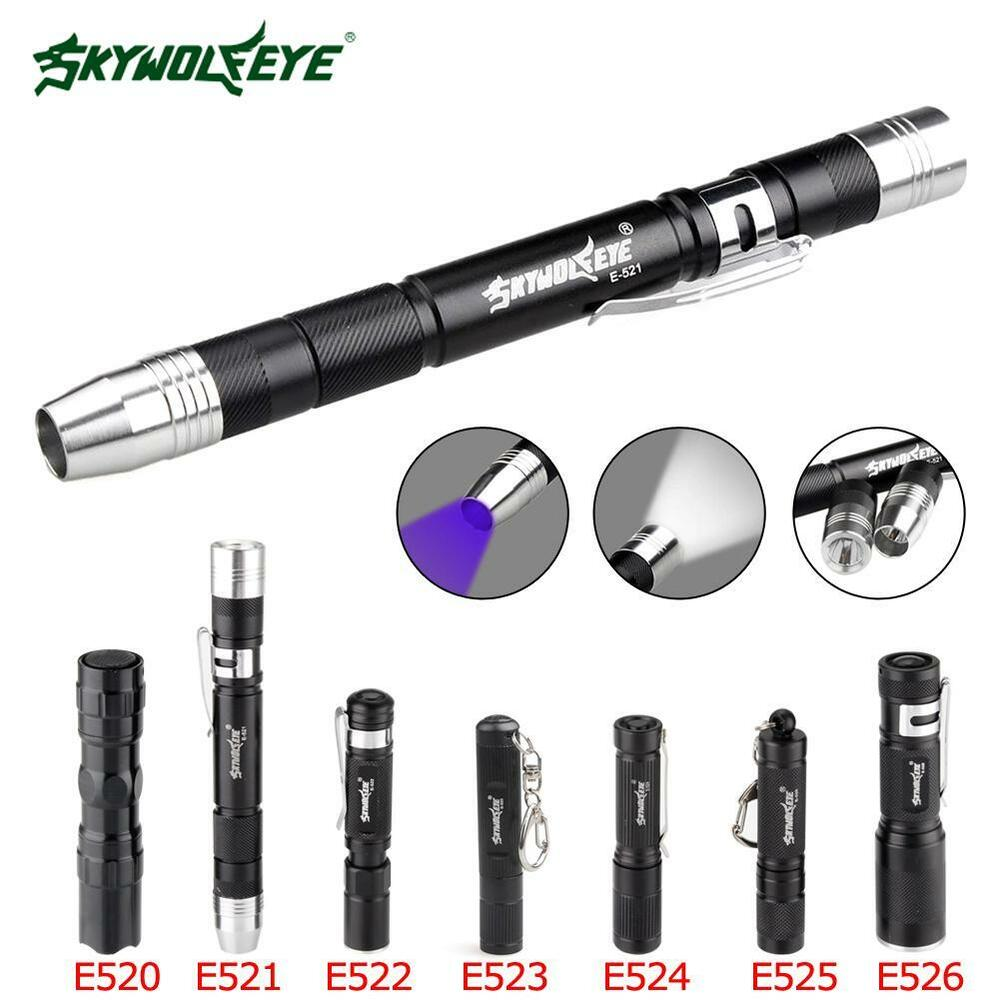 SKYWOLFEYE 6000LM  Q5 AA 14500 Zoom LED Penlight Mini Police Pocket Torch DI