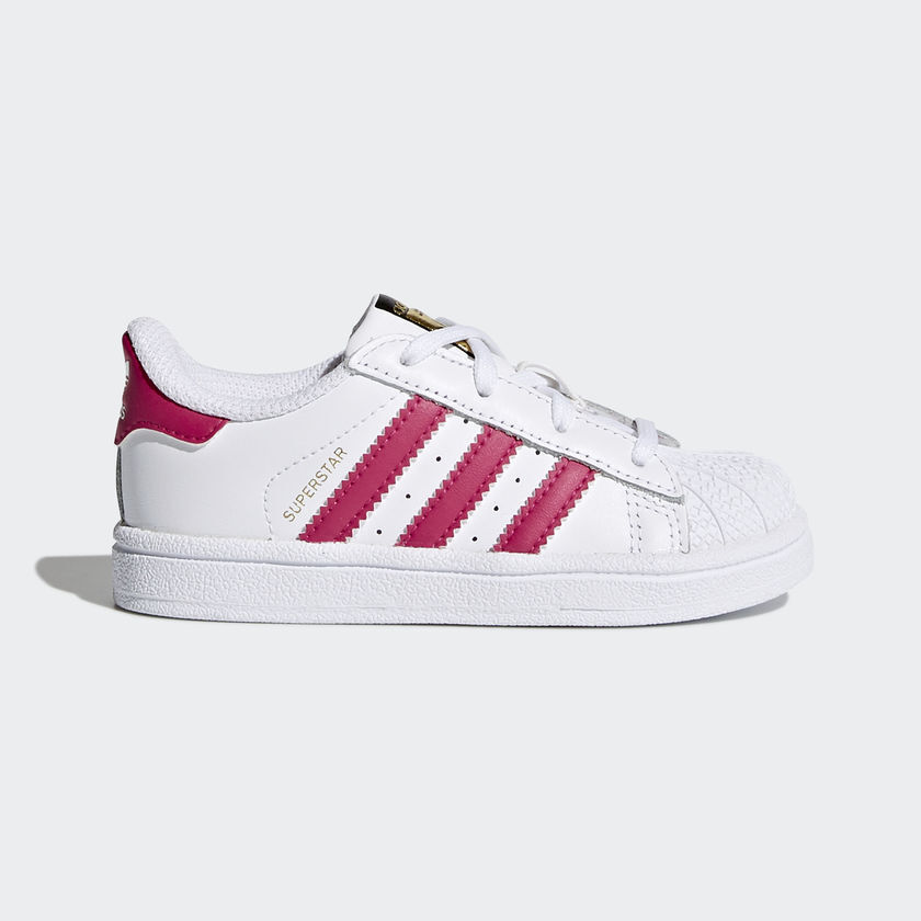 cc27e09dd5ea ... shop details about new adidas baby originals superstar toddler shoes  bb9077 white bold pink c79f1 3d465